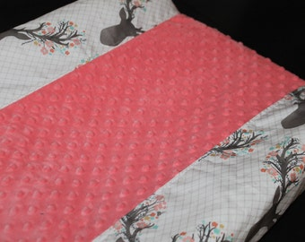 Tulip Fawn or Deluxe Tulip Fawn and Minky Contour Changing Pad Cover
