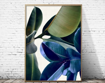 Botanical Print, Tropical  Print, tropical leaf, Plant art,Leaf Wall Art,wall decor,Botanical Leaf Art, large wall art,botanical print.