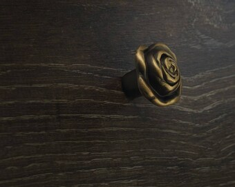 Rose - Brass Drawer / Cabinet Knobs Collection in Classical Style