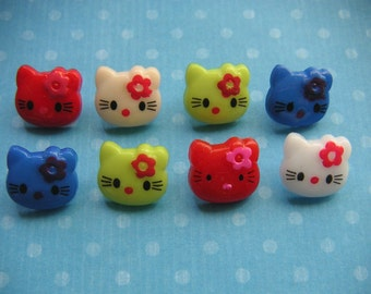 COLORFUL HELLO KITTY SHANK BUTTONS