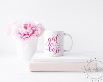 Girl You Are A Boss Mug | Girl Boss Mug | Boss Lady Mug | Sister Gift | Friend Gift | Gift for Women | Co Worker Gift | Under 50