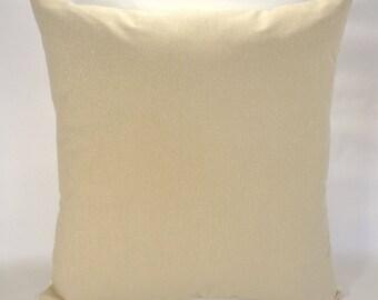 Champagne Pillow Cover, Light Gold Pillow, Metallic Pillow, 18x18 Pillow