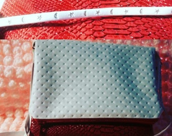 bright red reversible comodo pouch