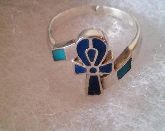 Gem Ankh Key of life ring from Egypt 10