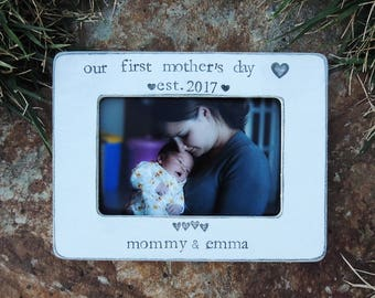 Personalized Our First mother's day picture frame gift Happy mother's day gift idea mother mom mama mommy and me frame