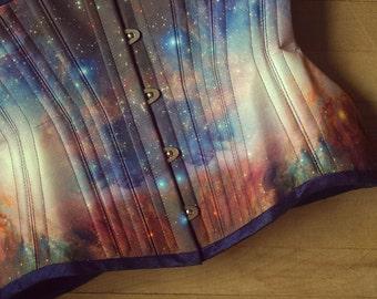 M42 Galaxy Corset - clothing, retrofolie, space, nebula clothing
