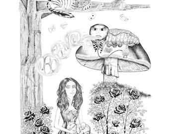 Alice in Wonderland  - 11 x 14 in print