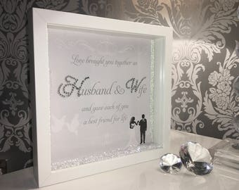 Husband and wife wedding frame