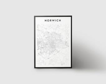 Norwich Map Print
