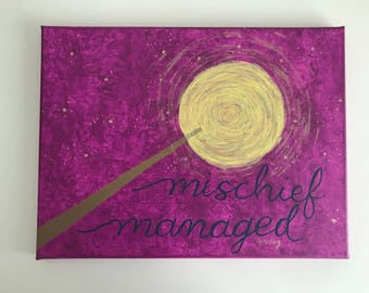Harry Potter - Mischief Managed - Canvas - Acrylic Painting