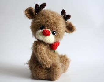 Crochet Deer Deer toy Deer amigurumi  Amigurumi Deer plush Deer crochet Stuffed Deer toy Christmas deer Deer