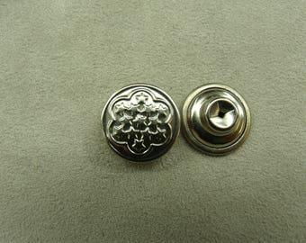 Jean - 17mm - Silver Star button