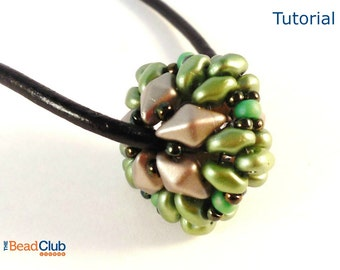 DiamonDuo Bead Patterns - Beaded Bead Tutorial - SuperDuo Bead Patterns - Beading Patterns and Tutorials - Beadweaving Tutorials - PDF