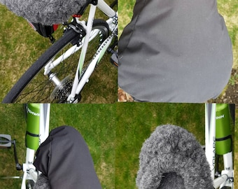bike seat cover | soft seat cover | waterproof bike seat cover + wool seat cover