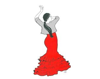 Day 22 Print: A little Flamenco comes to Barcelona