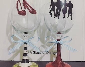 wizard of oz glasses a glass of design dorothy handmade wine glasses