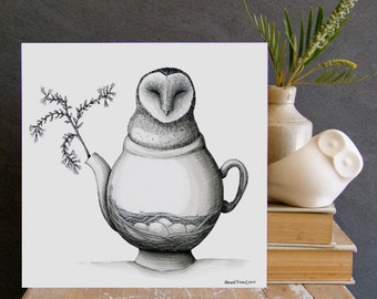 Nested Grass Owl - ECO Limited Edition Fine Art Print