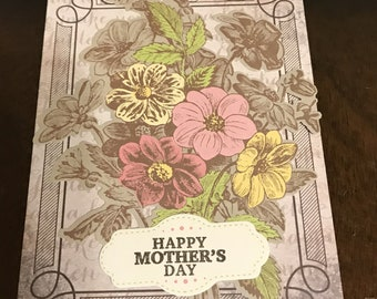 Handmade Set of 2 Mother's Day Greeting Cards with Envelopes Blank Inside