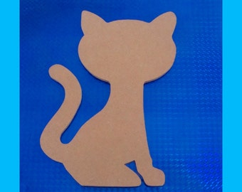 Sitting Cat Unfinished Mosaic Base  Craft Shape DIY Decor