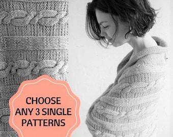 Choose Any 3 Knitting Patterns