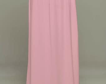 Rose Saree Petticoat/Drawstring Pull-On Maxi-Skirt