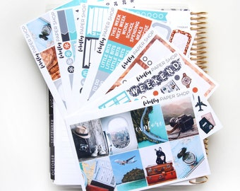 Explore DELUXE Weekly Kit (stickers for Erin Condren Life Planner - Vertical)