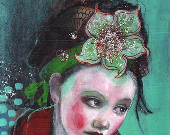 Jade Dreaming -ACEO  Open edition reproduction by Maria Pace-Wynters