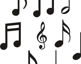 Nine 4-inch Music Notes