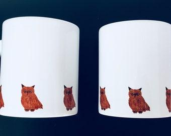 Owl  mug by Desjigns