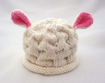 Knit Lamb Cotton Baby Hat great photo prop