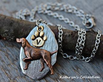 Vizsla Necklace, Hungarian Vizsla Jewelry