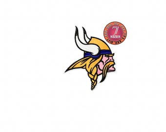 Minnesota Vikings  7 Sizes Sport Team Embroidery Design instatnt download machine embroidery pattern