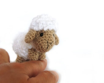 miniature SHEEP, crochet sheep, amigurumi sheep, white sheep doll, cute little sheep, beautiful sheep, small toy, tiny sheep gift, nursery