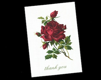 Thank You Cards - Bridal Shower - Wedding - Blank Thank You Cards - Note Cards - Floral