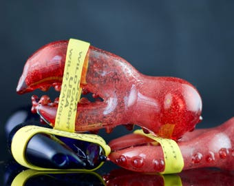 Lobster Glass Spoon Pipe in Your Choice of Color