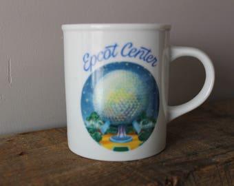 1982 Epcot Center Disney Coffee Mug Vintage Disney World Japanese 80s