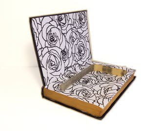 Hollow Book Safe Jane Eyre Charlotte Bronte Cloth Bound vintage Secret Compartment Keepsake Box Hidden Security Box