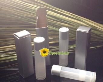 Silver Lip Balm Tube Box - 10 Pack