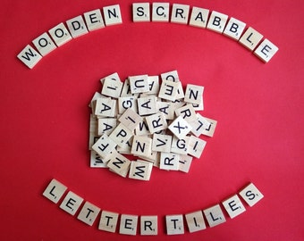 Mixed Letters Scrabble Tiles - Mixed Bags of Wooden Tiles - 18.1mm x 20mm For Crafting