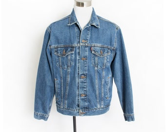 Vintage LEVI'S Denim Jacket - 1990s Blue Jean Jacket - Large / XL