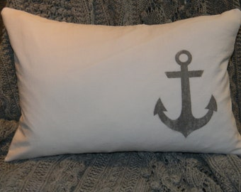 Cotton Pillow Cover- Anchor