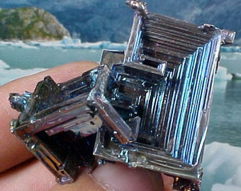 Rainbow Geometric Bismuth Crystal Mineral Specimen Excellent for Instilling Group Cohesiveness 001