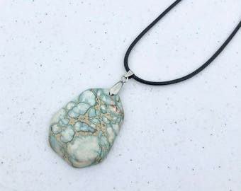 Natural Sea Sediment Jasper Pendant Necklace