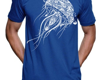 Jellyfish T Shirt Nautical Graphic Tees Beach Wear T Shirt Gifts For Swimmers Mens T Shirt Unisex Tshirt Gift ideas For Surfers T Shirts