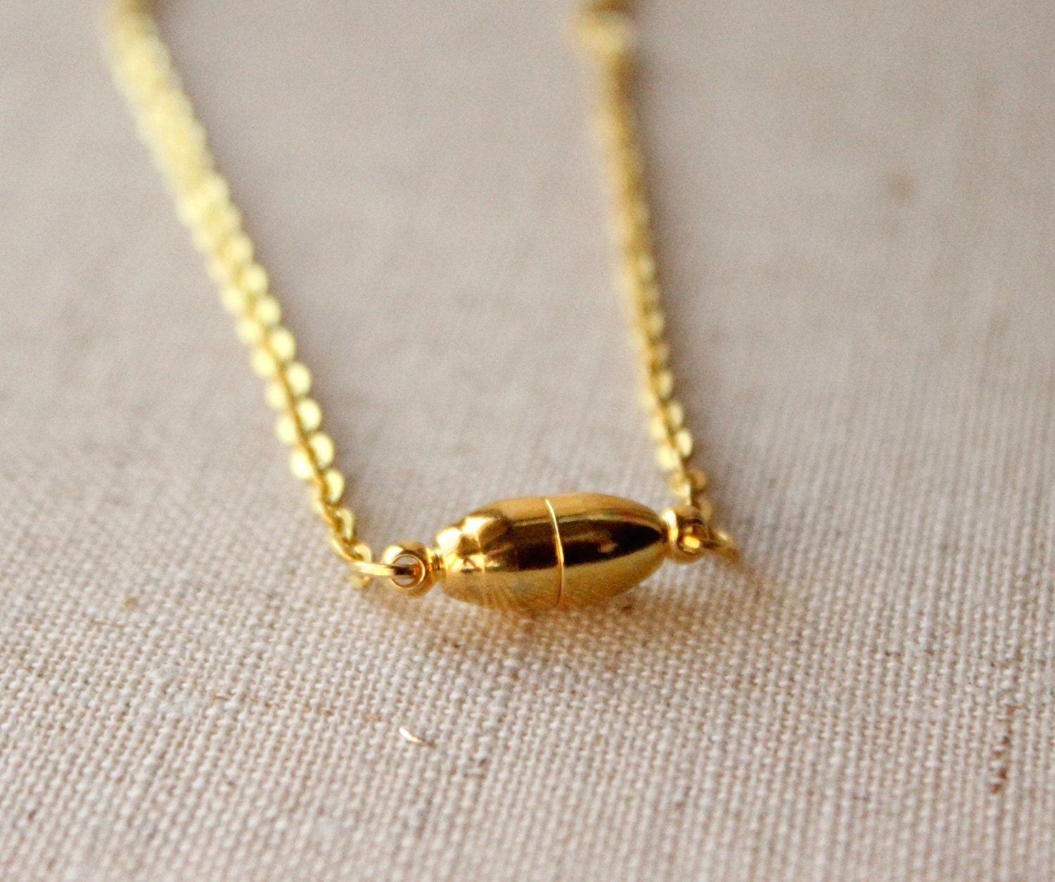 Magnetic clasp Gold chain necklace 14 36 inch small 2mm gold