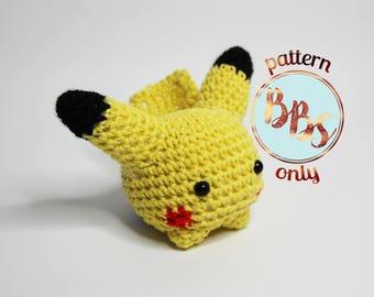 Amigurumi Patterns Pikachu : Amigurumi pikachu etsy studio