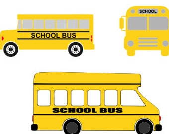 School Bus Layered SVG DXF Cutting File, Bus Svg, Bus Cutting Clipart
