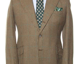 Size ~41L - Persall, New York, cashmere blend three-button side vent sport coat/jacket