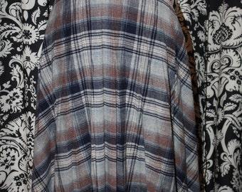 Vintage 1970's Pleated Plaid Skirt;  Item #320-SK