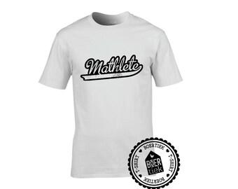 Mathlete, T-shirt, black or white, size S, M, L, XL